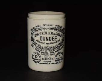 James Keiller Son Dundee Marmalade English Antique Stoneware Jar Pot Crock Scotland U.K.s Orange Marmalade Jar