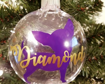 Personalized Dog Silhouette Ornament