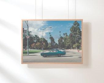 Blue Vintage Wall Art, Urban Photography, Modern Digital Print, Urban Printable, Printable Wall Art, Digital Download, Blue Printable Art