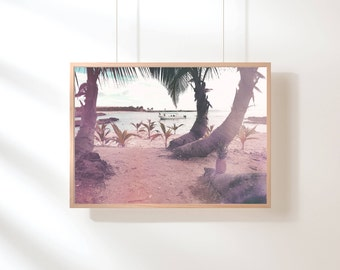 Purple Beach Printable, Sunset Beach Printable Wall Art, Beach Sunset Printable Wall Art, Beach Wall Art, Printable Poster, Digital Art