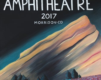 Red Rocks Amphitheatre, Lights of Red Rocks, Painting of Red Rocks
