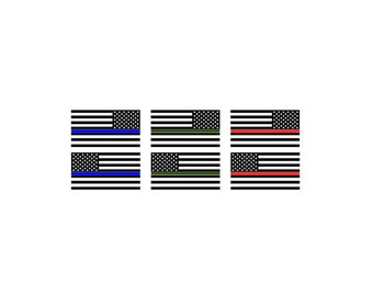 American Flag | Military | Police | Firefighter | EMT | Vinyl Decal Sticker set