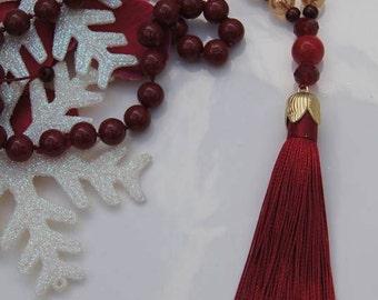 Handmade necklace made of semiprecious stones