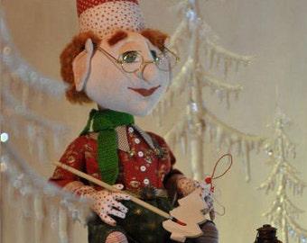 Ralph the elf. Fabric doll, Christmas gift, stuffed toy, decoration doll, interior toy, Эльф по имени Ральф