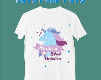 "T-Shirt ""Magical Blue Unicorn"""