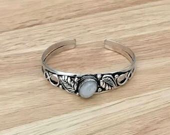Moonstone Cuff Bracelet