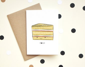 Moist, Funny, Rude, Greeting Card, Naughty Joke, Silly, Adult, Birthday, Blank Card, Anniversary, For Him, For Her