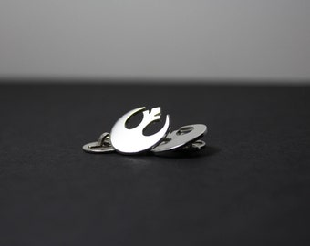 Rebel Insignia Hand Cut Sterling Silver Star Wars Cufflinks
