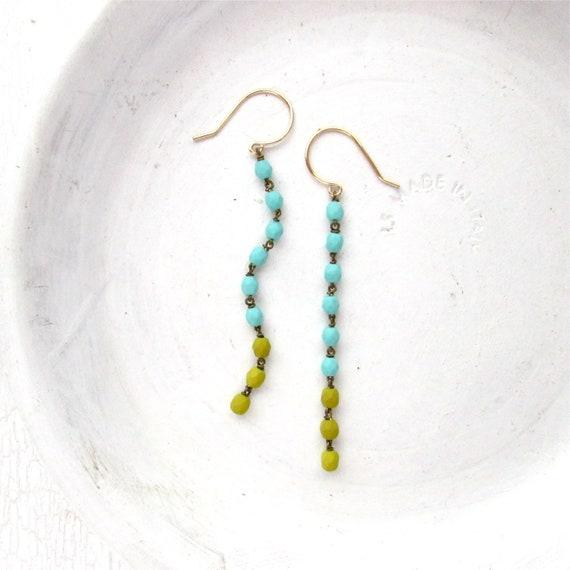 Cascade Earrings > Blue