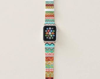 Apple Watch Leather Band - Rupydetequila Whimsical Illustration