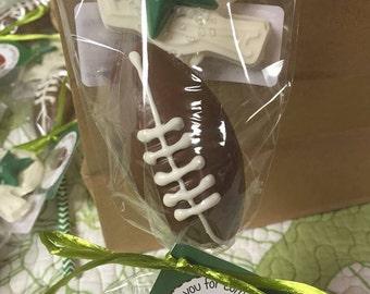 Chocolate football and helmet