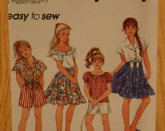 Simplicity Girls Pattern 8309 Sizes 12-14