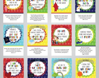 11x17 Printable 2018 Monthly LDS Primary Theme Posters