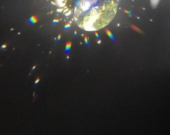 "Crystal Suncatcher, 8"" sun catcher, rainbow maker, Ocean ombre"