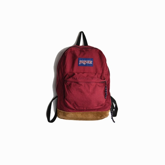Classic Jansport Right Pack Backpack in Viking Red / Fabric Backpack / Maroon School Bag