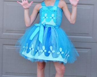 Girls Troll Costume- Trolls Costume - Poppy Costume- Trolls Birthday - 1st Birthday - Tutu dress- costume- girls costume dress