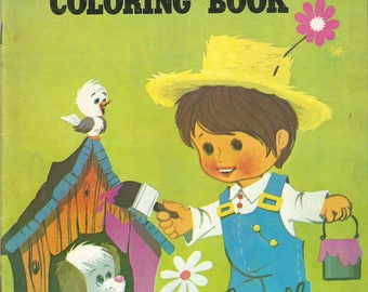 Vintage My Very Own Coloring Book Children's Coloring & Activity Book, 1960s