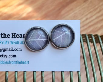 Glass Dome Post/Stud Earring - Cabochon - 12mm [CE002]