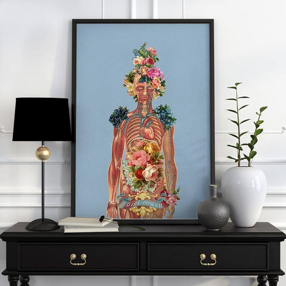 You are beautiful -Body Girl Woman gift Feminist art Wall decor art, Anatomical Best friend gift, wall art, SKA115WA3