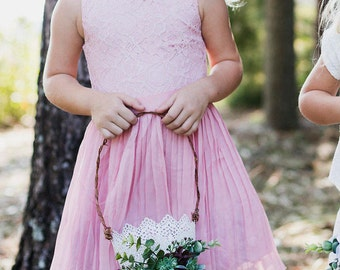 Flower Girl basket | Vintage Wedding | Succulent |Flower Girl white Bucket | Metal Basket | Succulent Wedding | Romantic Flower Girl