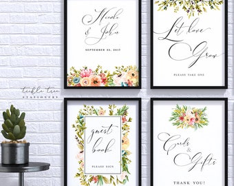 Wedding/Reception Signs (4 Piece Print Collection) - Mountainside Meadow