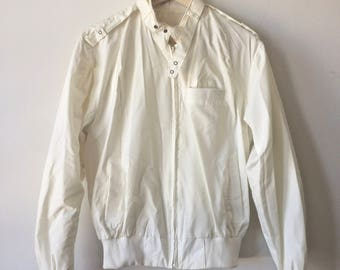 White Cafe Jacket Members Only Style Womens Medium