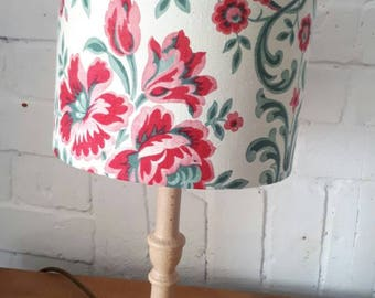 Handmade lampshade, Vintage Reclaimed French Fabric, 20cm diameter, Suitable for table lamp