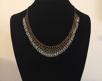 Bronze 4-Link and Silver 2-Link Chainmail Necklace