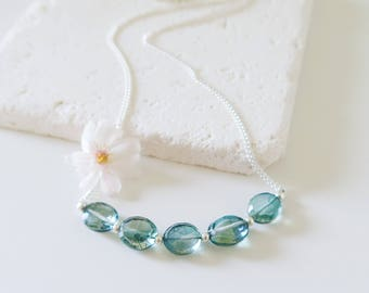 Green Quartz Necklace | Green Tourmaline Necklace | Green Gemstone Necklace | Green Quartz Jewelry | Green Gemstone Jewelry | Wife Gift