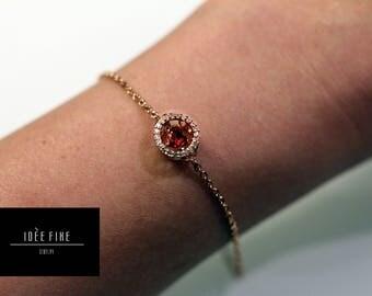 Floating Heart Crystal Bracelet