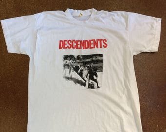 Vintage 80's Descendents Shirt Made in USA Screen Stars The Rarest Descendents Shirt 1980's