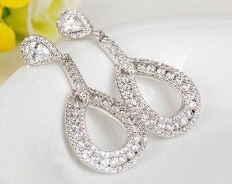 Bridal Earrings   Wedding Jewelry   Bridesmaid Earrings   Chandelier Earrings   Bridal Jewelry   Teardrop Earrings   Weddings