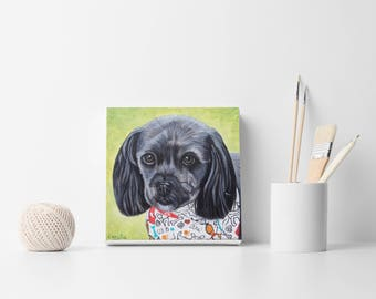 Custom Portrait Hand Painted Pet Portrait Painting from your Photo Custom Dog lovers decor Dog portrait Gift Idea Birthday gift Dog decor