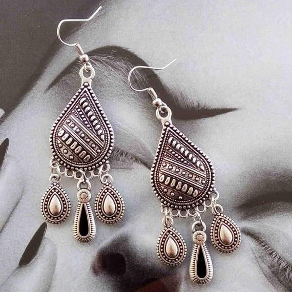 Bohemian earrings, boho earrings, ethnic earrings, hook boho earrings, boho dangle earrings, fashion earrings