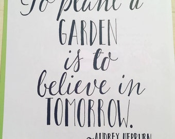 Audrey Hepburn Quote Hand-lettered