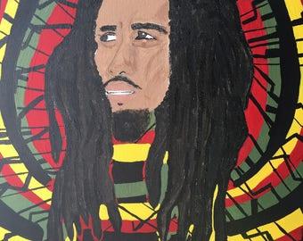 Bob Marley Hand Painted Acrylic Painting