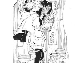 Original drawing: Fungus Collector