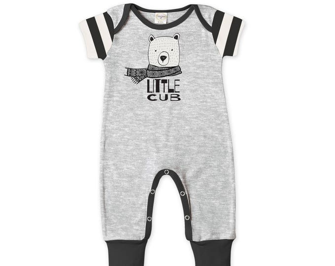 Newborn Baby Boy Coming Home Outfit Summer, Baby Bear Cub Gray Romper, Baby Girl Bear Romper Minimalist Bears Romper Tesa Babe