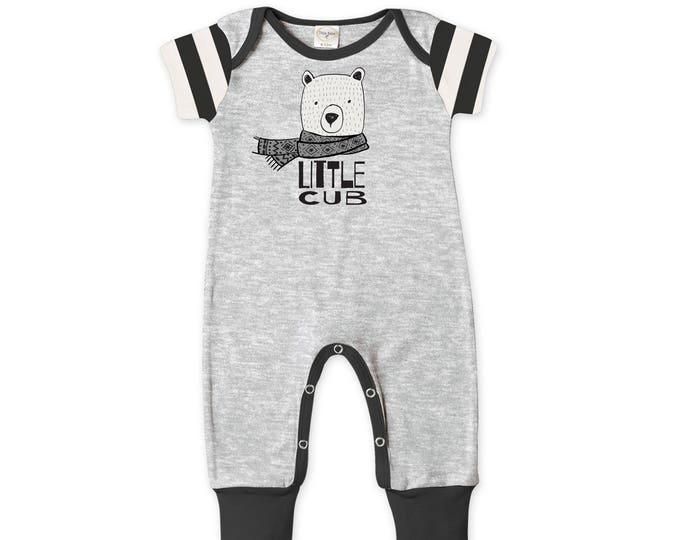 SALE! Newborn Baby Boy Coming Home Outfit Summer, Baby Bear Cub Gray Romper, Baby Girl Bear Romper Minimalist Bears Romper Tesa Babe