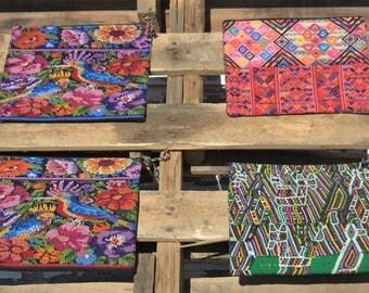 Large Zipper Bag GBP42/Zipper pouch/coin purse/Clutch/Embroidered/Cosmetic Bag/Travel Bag/Custom Clutch/Gift