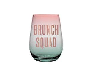 Brunch Squad 20 oz. Ombré Stemless Wine Glass