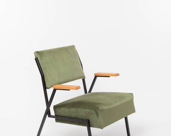 Reloved Armchair . Olive Green  | Upholstered Chair | Vintage Chair | Lounge Chair | Retro Armchair | Restored | Modern Vintage