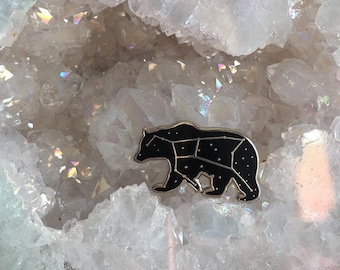 Ursa Major pin -  The Great Bear pin - bear enamel pin - luxury enamel pin - zodiac pin - constellation pin - starry night enamel pin