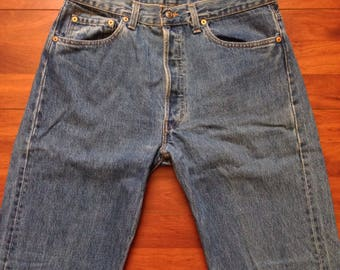 80's Levi's 501 Jeans - 33W 30L - Made in USA - Vintage Levis