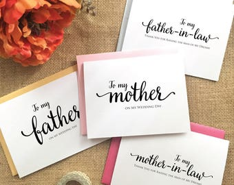 to my mother on my wedding day card to my mother in law on my wedding day to my mother-in-law card mother of the groom gift from son