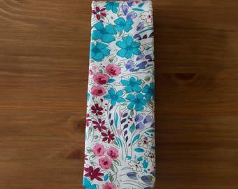 men's necktie - ivory floral cotton