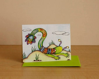 Small format card, card any occasion card for children, card, blank greeting card, funny birthday card