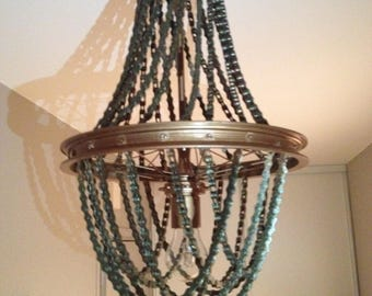 bicycle chain, baroque, industrial style chandelier