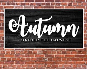 Autumn SVG, Autumn Sign, Wood Autumn Sign, Fall Sign, Thanksgiving, Printable, SVG, Cut File, Cuttable, Wall Art, Print, Vector, Silhouette