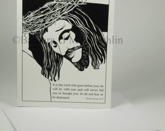 Sympathy Card Set, Jesus card, Condolence card, Loss of loved one card, Religious card, Support card, Christian card, Scripture card, Lent